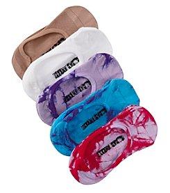 Steve Madden Five Pack Tie Dye Footies