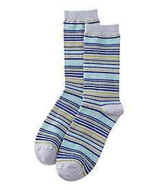 Relativity® Multi Stripe Crew Socks