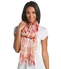 Collection 18 Watercolor Floral Scarf