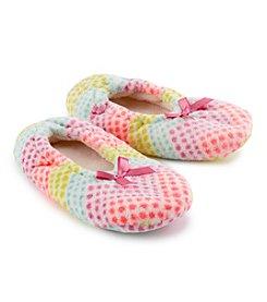 Fuzzy Babba® Dot Slippers