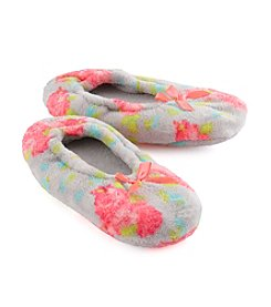 Fuzzy Babba® Floral Slippers