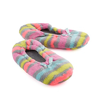 9976366a1 UPC 086694151099 product image for Fuzzy Babba® Rainbow Stripe Slippers ...