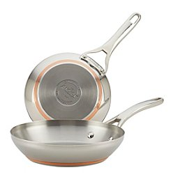 Anolon® Nouvelle Copper Stainless Steel Twin Pack French Skillets