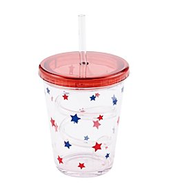 LivingQuarters Americana Collection Straw Cup