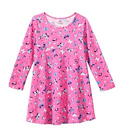 Mix & Match Girls' 2T-6X Long Sleeve Butterfly Empire Waist Dress