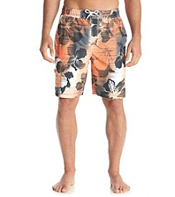 Paradise Collection® Men's Orange Hibiscus Swim Trunks