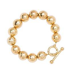 Lauren Ralph Lauren Bali Organic Metal Bead Bracelet