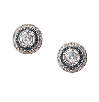 Lauren Ralph Lauren Vintage Crystal Stud Clip Earrings