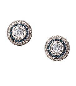 Lauren Ralph Lauren Vintage Crystal Stud Clip Earrings