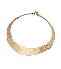 Lauren Ralph Lauren Bali Organic Metal Plate Collar Necklace