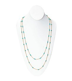 Lauren Ralph Lauren Summer Chic 2-Row Beaded Illusion Necklace