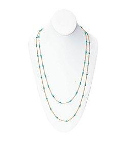 Lauren Ralph Lauren Summer Chic 2-Row Beaded Illusion Necklace