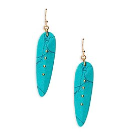 Lauren Ralph Lauren Capri Elongated Stone Drop Earrings