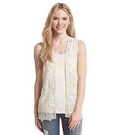 Kensie® Delicate Crochet Vest