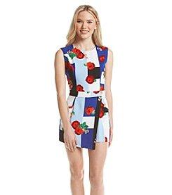 XOXO® Colorblock Floral Romper