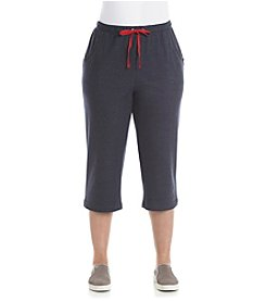 Breckenridge® Plus Size Solid Heather Active Capri Pants
