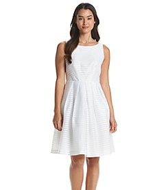 Ivanka Trump® Textured Fit And Flare Dress