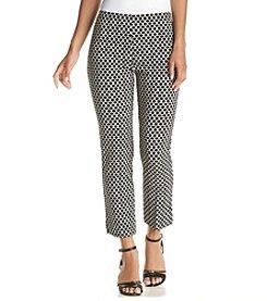 Karen Kane® Cropped Tile Print Pants
