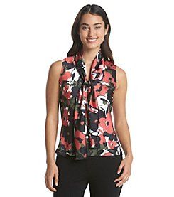 Nine West® Floral Bow Blouse