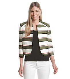 Nine West® Striped Open Blazer