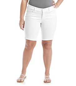 Jessica Simpson Plus Size Maxwell Denim Bermuda Shorts