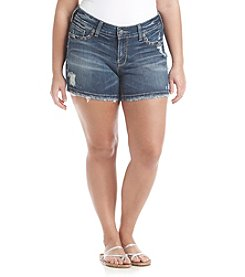 Silver Jeans Co. Plus Size Suki Mid Length Shorts