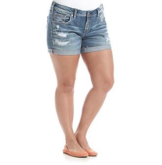 Silver Jeans Co. Plus Size Mid Length Boyfriend Shorts