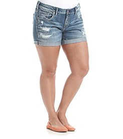 Silver Jeans Co. Plus Size Mid Length Boyfriend Shorts