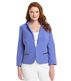 Nine West® Plus Size Stretch Kiss Front Jacket