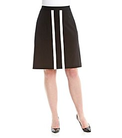 Nine West® Plus Size Stretch Twill Weave Skirt