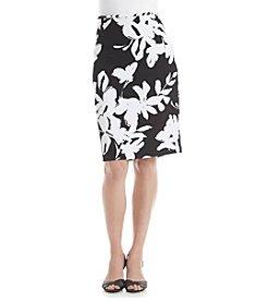 Calvin Klein Petites' Textured Floral Skirt