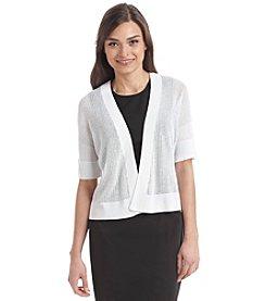 Rafaella® Petites' Sheer Open Front Cardigan