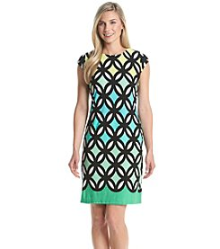 Madison Leigh® Ombre Trellis Patterned Dress