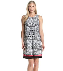 Madison Leigh® Triple Tiered Patterned Dress