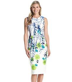 Julian Taylor® Midi Floral Scuba Dress
