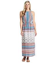 Sangria™ Patterned Halter Maxi Dress