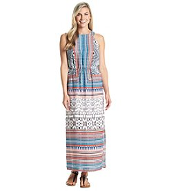 Sangria™ Patterned Halter Maxi Dress