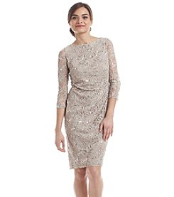 Jessica Howard® Petites' Allover Patterned Lace Dress