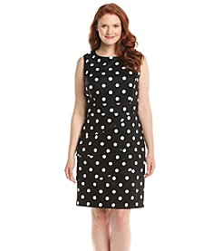 Connected® Plus Size Dot Tiered Sheath Dress