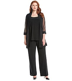 R&M Richards® Plus Size Jacket Panel Pant Suit