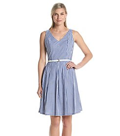 Nine West® Gingham Fit And Flare Dress