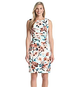 Ivanka Trump® Floral Scuba Sheath Dress