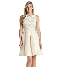 Taylor Dresses Lace Fit And Flare Dress
