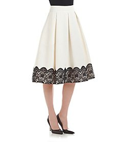 Eliza J® Lace Pleated Skirt
