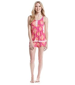 Layla® Printed Boxer Pajama Set