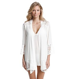 Linea Donatella® Flower Child Lace Trim Robe