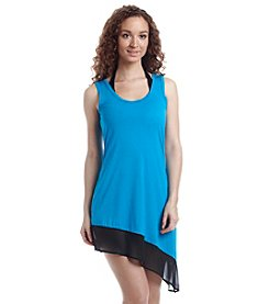Calvin Klein Colorblock Asymmetrical Cover-Up Dress
