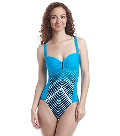 Calvin Klein Bar Sweetheart Neckline One-Piece