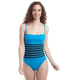 Calvin Klein Binding Overlay One Piece