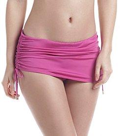 Calvin Klein Side Shirred Swim-Skirt